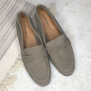 Lucky Brand Taupe Loafers Size 9.5